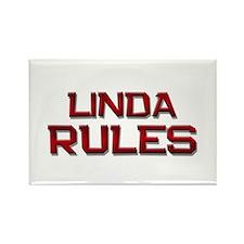 linda rules Rectangle Magnet