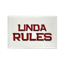 linda rules Rectangle Magnet (10 pack)