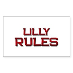 lilly rules Rectangle Decal