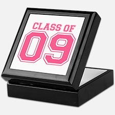 Class Of 09 (Pink Varsity) Keepsake Box