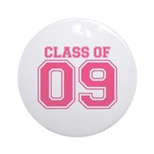 Class Of 09 (Pink Varsity) Ornament (Round)
