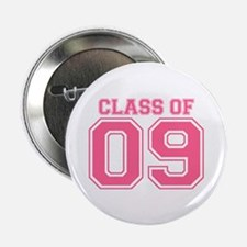 "Class Of 09 (Pink Varsity) 2.25"" Button (10 pack)"
