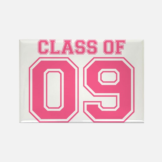 Class Of 09 (Pink Varsity) Rectangle Magnet (100 p