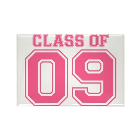 Class Of 09 (Pink Varsity) Rectangle Magnet (10 pa