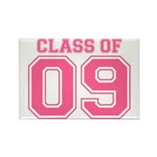 Class Of 09 (Pink Varsity) Rectangle Magnet