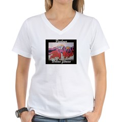 parkour graffiti Women's V-Neck T-Shirt