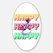 Happy Oval Decal