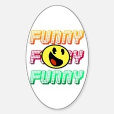 Funny Oval Decal