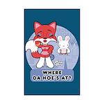 Foxy Foxy Mini Poster Print