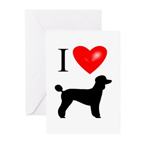 LUV Poodles Greeting Cards (Pk of 10)