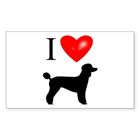 LUV Poodles Rectangle Sticker