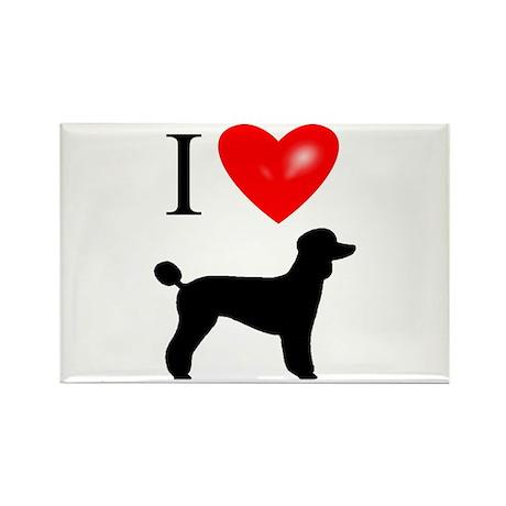 LUV Poodles Rectangle Magnet (100 pack)