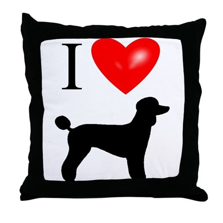 LUV Poodles Throw Pillow