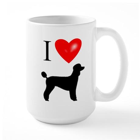 LUV Poodles Large Mug