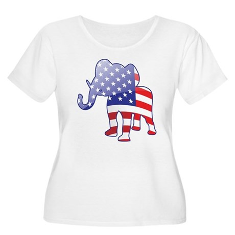 """Republican"" Women's Plus Size Scoop Neck T-Shirt"