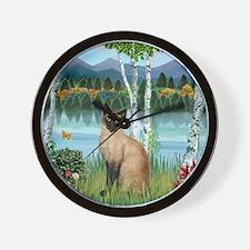 Birches / Siamese Wall Clock