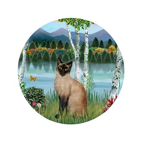"""Birches / Siamese 3.5"""" Button"""