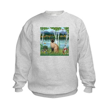 Birches / Siamese Kids Sweatshirt