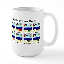 Holidays on Kwaj (Large Mug)