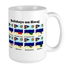 Holidays on Kwaj (Large Mug)