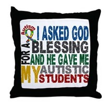 Blessing 5 Autistic Students Throw Pillow
