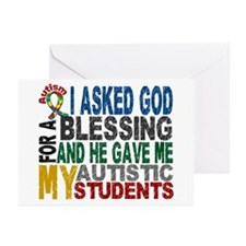 Blessing 5 Autistic Students Greeting Cards (Pk of