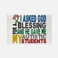 Blessing 5 Autistic Students Rectangle Magnet (10