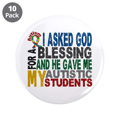 "Blessing 5 Autistic Students 3.5"" Button (10 pack)"