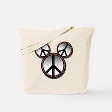 Peace love hope black Tote Bag