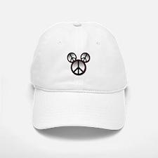 Peace love hope black Baseball Baseball Cap