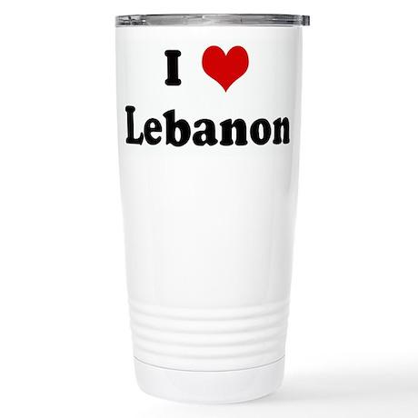 I Love Lebanon Stainless Steel Travel Mug