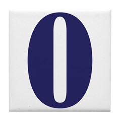Zero Number Tile Coaster