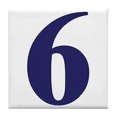 Number Six Tile Coaster