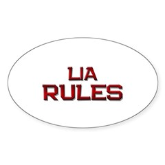 lia rules Oval Decal
