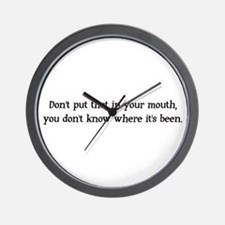 In Your Mouth Wall Clock
