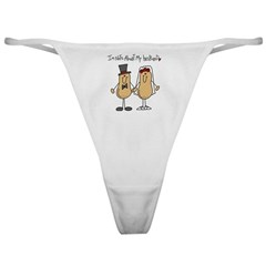 Nuts About My Husband Classic Thong