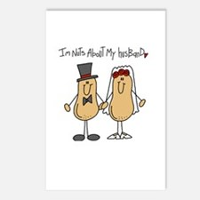 Nuts About My Husband Postcards (Package of 8)