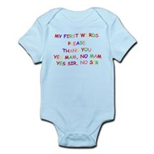 MY FIRST WORDS Infant Bodysuit