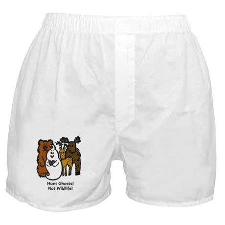 HUNT GHOSTS! NOT WILDLIFE! Boxer Shorts
