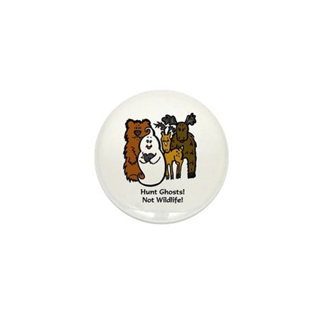 HUNT GHOSTS! NOT WILDLIFE! Mini Button (10 pack)