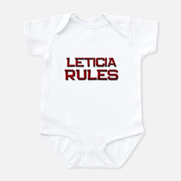 leticia rules Infant Bodysuit