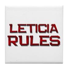 leticia rules Tile Coaster