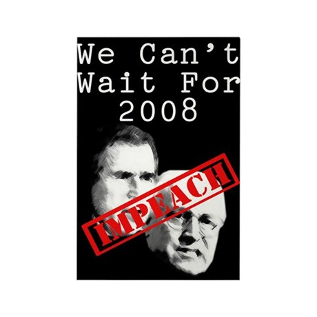 We Can't Wait for 2008 Rectangle Magnet (100 pack)