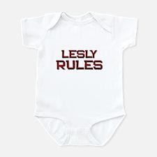lesly rules Infant Bodysuit