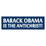 Barack Obama Is The Antichrist Bumper Sticker