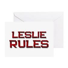 leslie rules Greeting Card