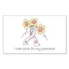 Pink For Grandma Rectangle Sticker 10 pk)