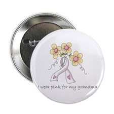 """Pink For Grandma 2.25"""" Button (100 pack)"""