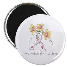"Pink For Sister 2.25"" Magnet (10 pack)"