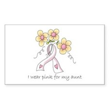 Pink For Aunt Rectangle Decal